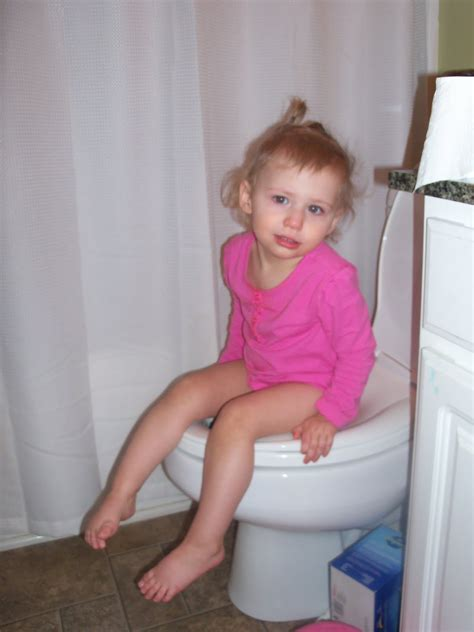 girl on toilet potty training girls potty training cake ideas and designs