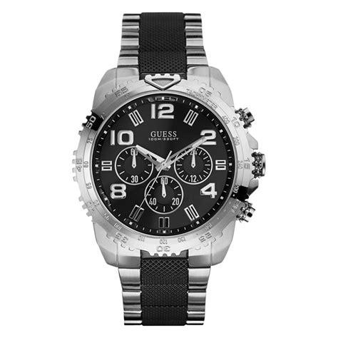 Guess Loop Black Silver new guess for chronograph black silver band tachymeter u0598g3 ebay