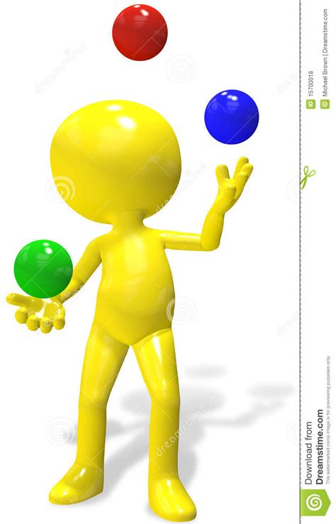 juggler 3d pattern juggler cartoon 3d person juggles rgb balls royalty free