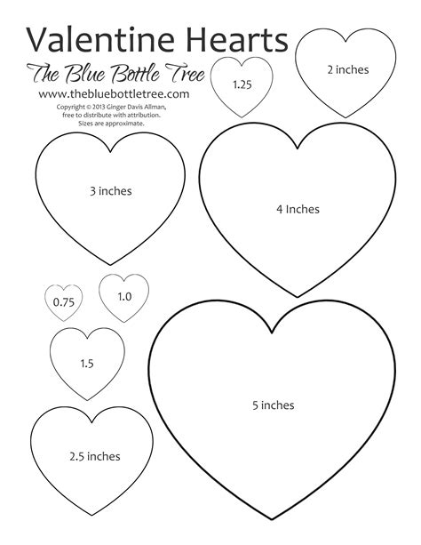 printable valentine templates valentine heart printable clipart the blue bottle tree