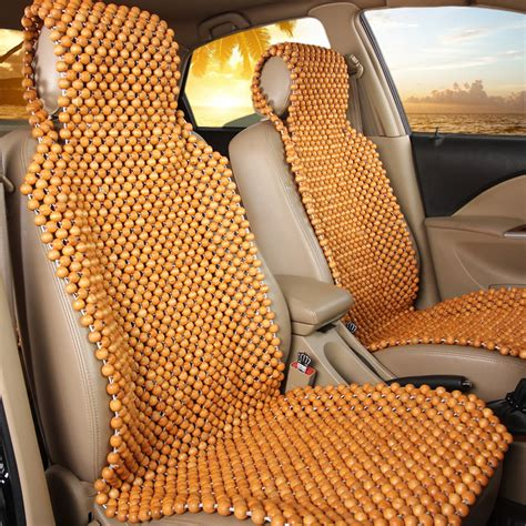 wood beaded comfort seat cushion natural wood wooden beaded seat cover massage cool