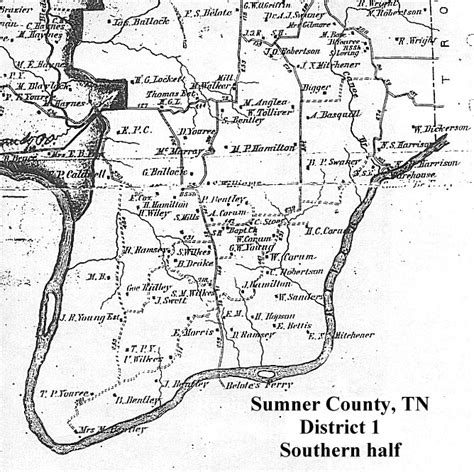 map of sumner county tn 1878 sumner county tn map transcriptions district 1