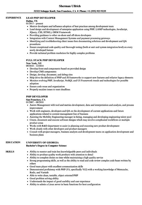 Php Programmer Cover Letter by Php Programmer Resume Assisted Living Executive Director Objective Resumes Utilizationreview