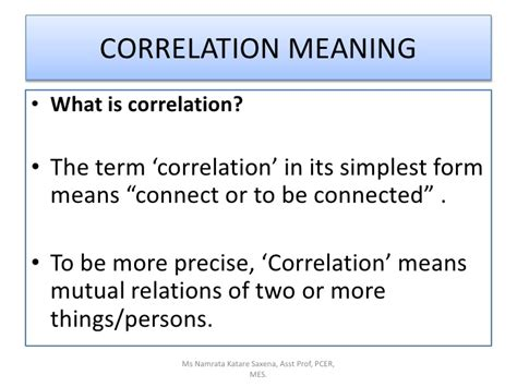 Or Meaning Correlation Of Subjects In School B Ed Notes