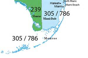 Miami Area Code Map by Area Code 305 And 786 Florida