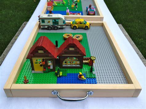 diy portable lego table 21 diy lego trays and organization ideas