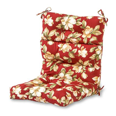 Outdoor Patio High Back Cushion Red Replacement For Deep