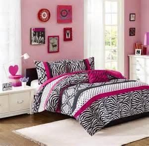 Pink And Black Bedroom Set by Pink Black White Damask Dots Zebra Stripe