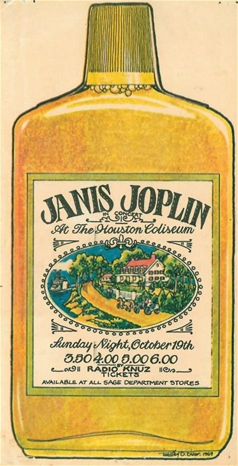 southern comfort pint janis joplin in houston october 19 1969 poster designed