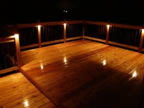 enhance your new deck with recessed deck lighting homes