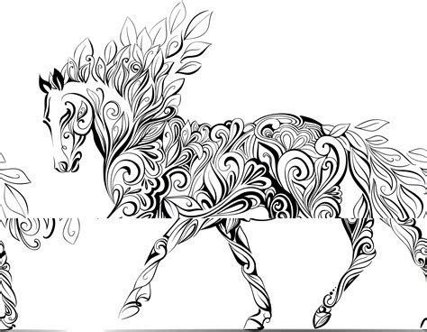 adult colouring therapy  horses pinterest adult