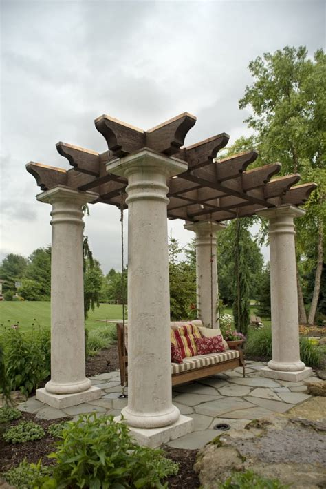 tuscan pergola tuscan style pergola swing for mark church in canton ohio