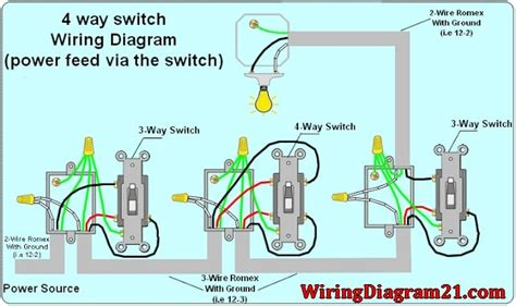 4 wire switch schematic 4 way switch diagram with dimmer