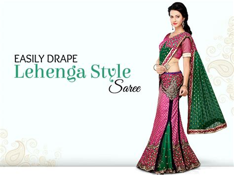 how to drape a lehenga style saree utsav fashion blog know all about indian ethnic fashion
