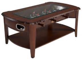Gaming Coffee Table Berner 2 In 1 Foosball Coffee Table Antique Walnut