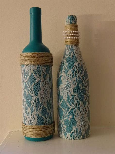 garrafas decoradas sisal 42 garrafas decoradas renda passo a passo