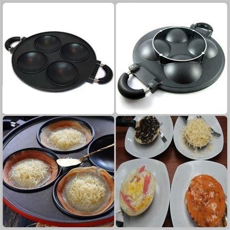 Teflon Paling Bagus cetakan kue 4 lubang bisa untuk serabi goreng telur dan