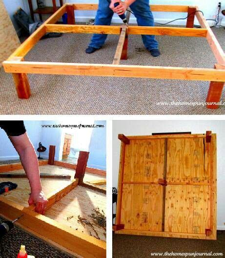 king size bed frame diy diy king size bed frame for the home pinterest