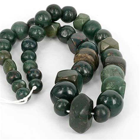Kalung Vessel Lapis Lazuli Bloodstone mixed ancient green bead collection