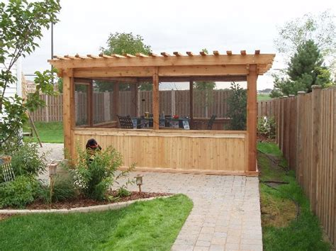 pergola screen ideas western cedar pergolas