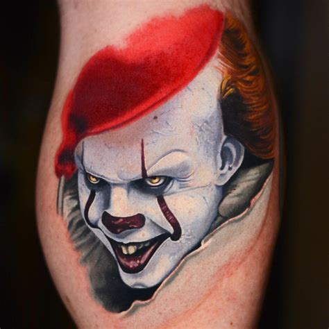 pennywise tattoo 21 horrifying pennywise tattoos to get you hyped for the