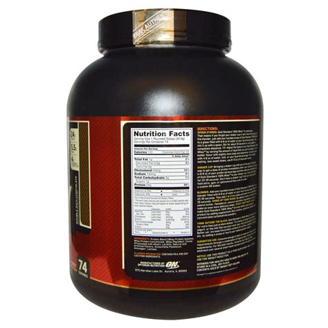 Whey Gold Optimum Nutrition 100 Whey Gold Standard Rich