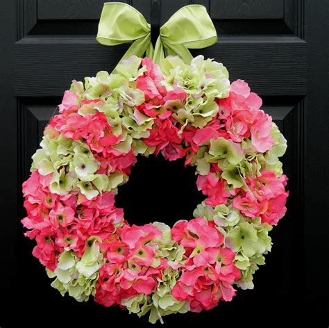 springtime wreaths spring summer hydrangea wreath pictures photos and