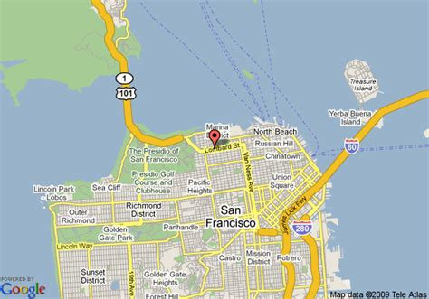 san francisco bridges map map of travelodge golden gate san francisco