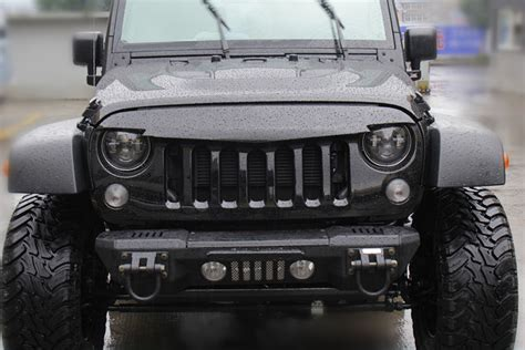 Jeep Front Grill Front Grille Grill Matt Black For 2007 16 Jeep Wrangler Jk
