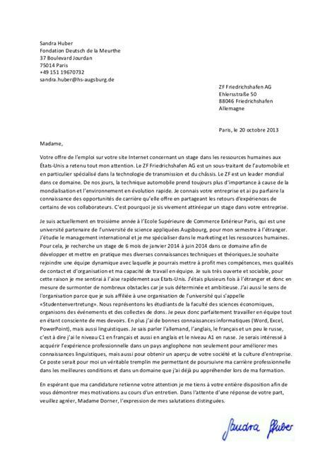 Exemple Lettre De Motivation Organisation Internationale lettre de motivation