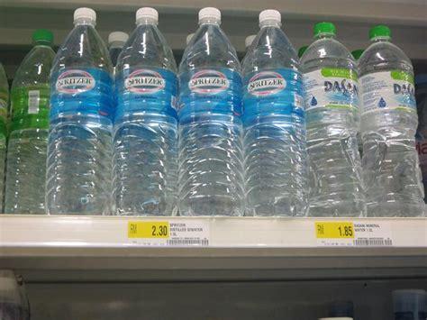 Harga Bottled air mineral pun naik harga tesco