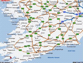 Printable Route Planner Ireland | aa road map route planner ireland