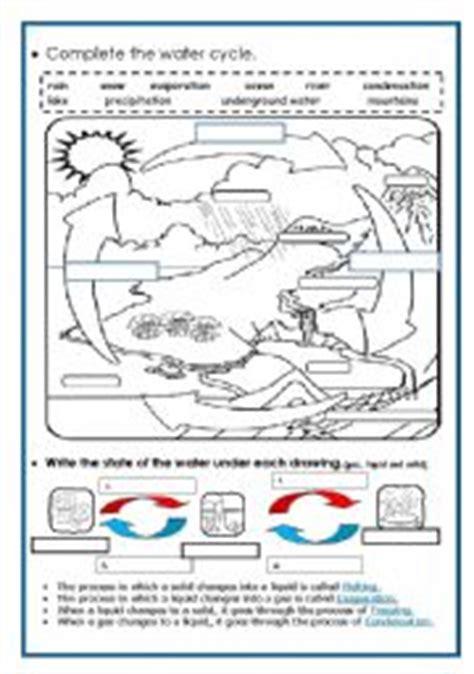 The Water Cycle Worksheet Pdf by Intermediate Esl Worksheets The Water Cycle