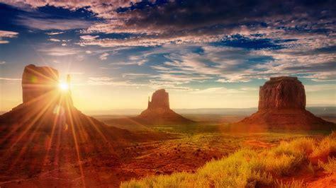 american sunset sun rays desert area oljato monument