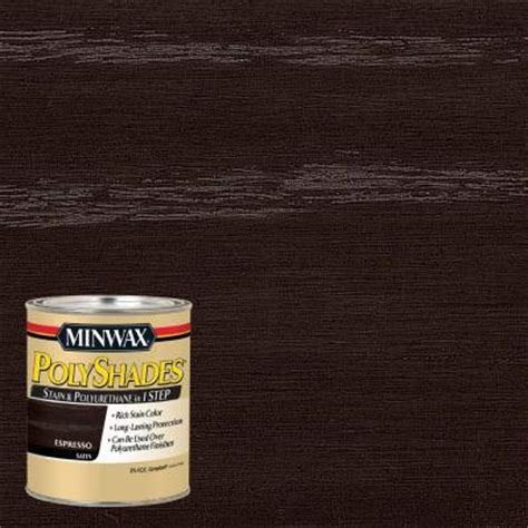 minwax 1 qt polyshades espresso satin 275 voc stain and polyurethane in 1 step 619970444 the