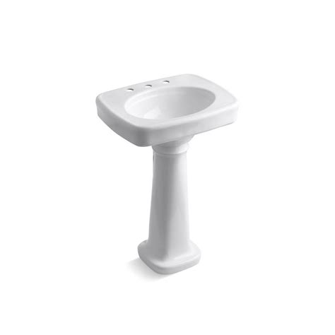 Kohler White Pedestal Sink Kohler Bancroft Vitreous China Pedestal Bathroom Sink