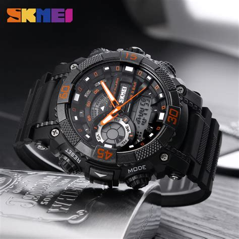Jam Tangan Skmei 1155 Waterproof Digital Analog 100 Original Murah skmei jam tangan analog digital pria ad1228 black orange jakartanotebook