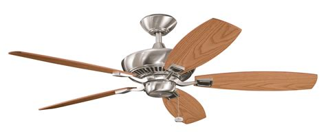 kichler brushed stainless steel ceiling fan brushed