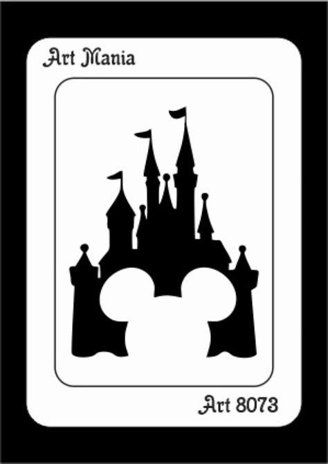 Stencil Castelo Mickey - ART 8073 no Elo7 | Stencil Art