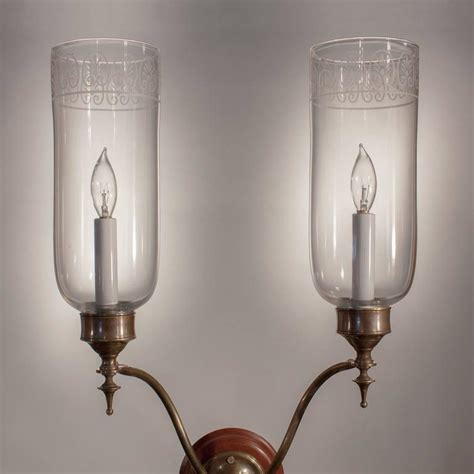 hurricane l shades for sale pair of arm glass hurricane shade wall sconces for