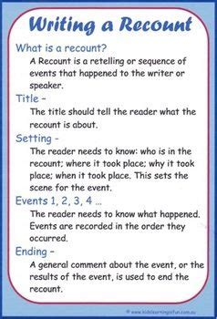 Personal Recount Essay Structure by 25 Best Ideas About Recount Writing On Narrative Anchor Chart Procedure Writing