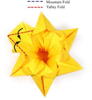 Daffodil Origami - how to make an origami daffodil flower page 21