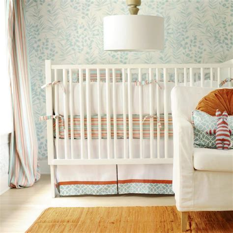 Orange And Blue Crib Bedding Turquoise Blue And Orange Crib Bedding Contemporary Nursery New Arrivals Inc