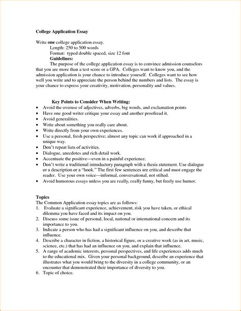 Essay Writting Format by Format For College Essay College Application Essay Jpg