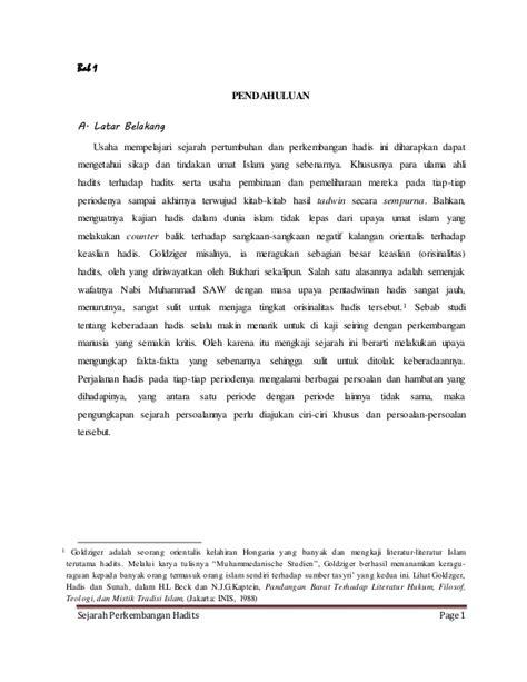 Sejarah Pengantar Ilmu Hadits 1 makalah ilmu hadits sejarah pekembangan hadits