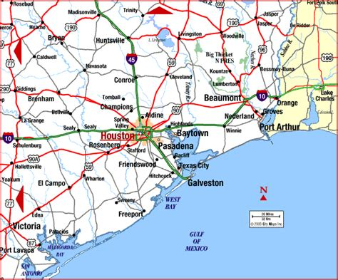 map of texas cities near houston houston texas map
