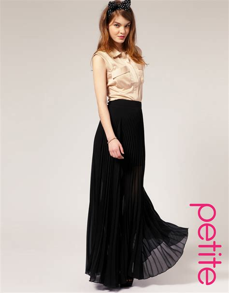 Maxi Black A lyst asos collection asos pleated maxi skirt in black