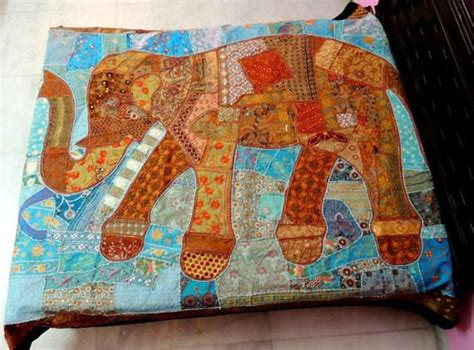 Patchwork Sofa Throw - indian patchwork sofa throw embroidered stitched baby