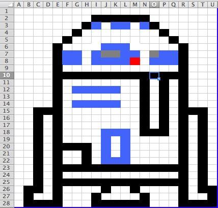 R2D2 ? Post It Note Art!   Mr. Orr is a Geek.com