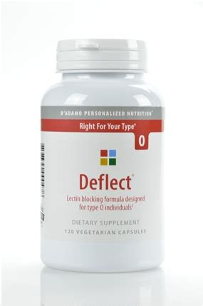 deflect 0 supplement deflect o 120 vegetarian capsules d adamo personalized